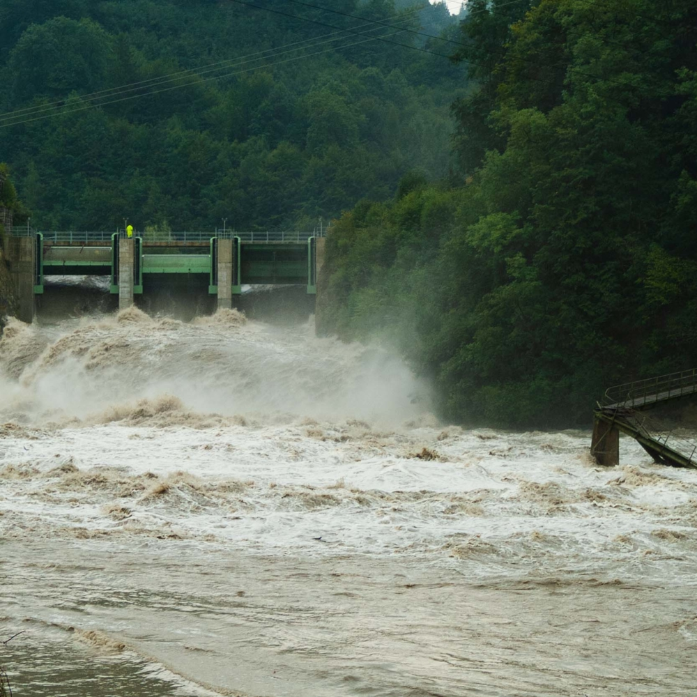 Barrage de la maigrauge - Fribourg - 22 août 2005 - Olivier Savoy